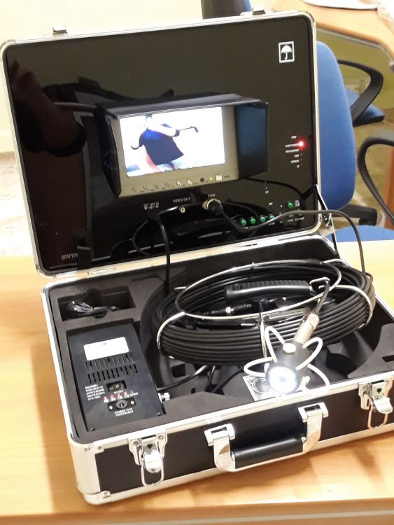Kit per la videoispezione della canna fumaria contatta Gli Spazzacamino