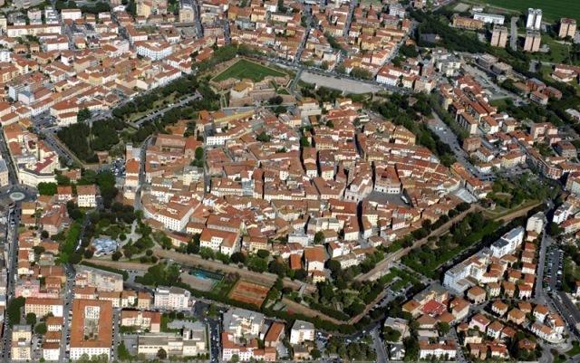 Una veduta aerea di Grosseto