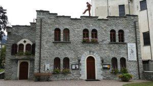 L'ingresso del museo dello spazzacamino