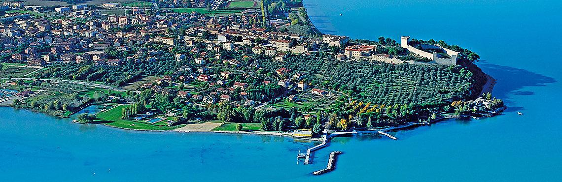 Panoramica aerea di Castiglion del Lago