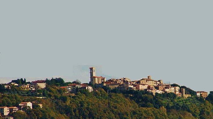 Panorama della città di Collazzone