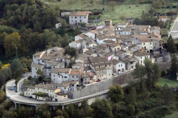 Panorama del borgo di Sant'Anatolia di Narco