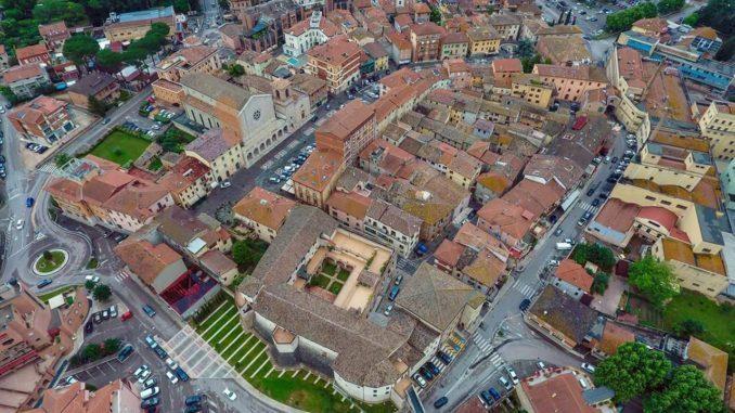 Immagine aerea di Bastia Umbra