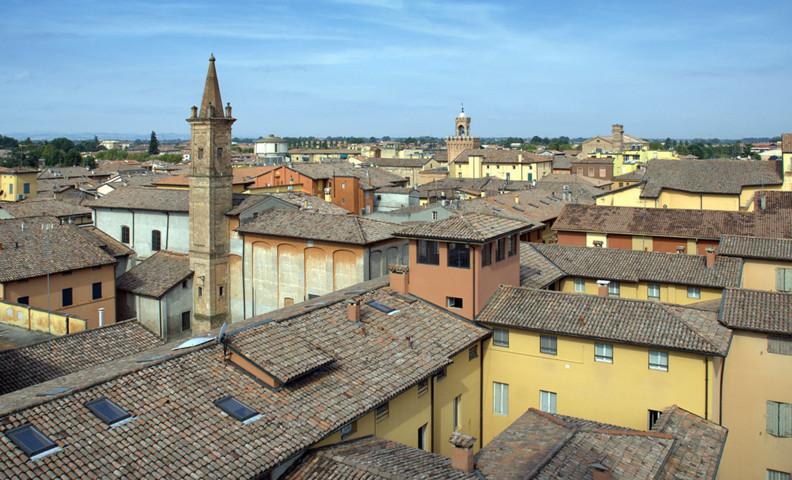 Il panorama dei tetti di Budrio