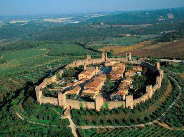 Foto aerea di Castellina in Chianti