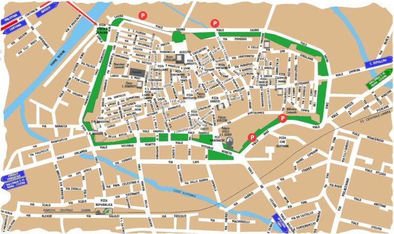 mappa di città di Castello