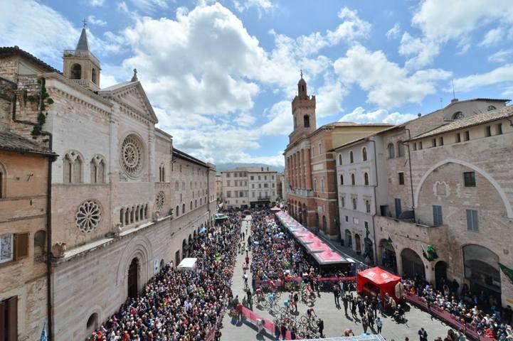 Giro ciclistico d'Italia a Foligno