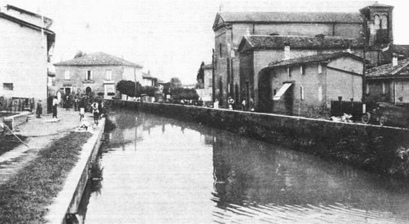 Foto storica del canale navale di Malalbergo