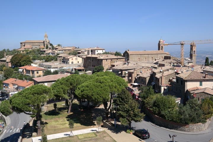 Panorama della fortezza di Montalcino