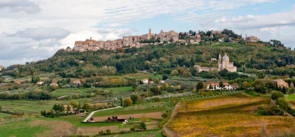 Panorama del borgo di Montepulciano