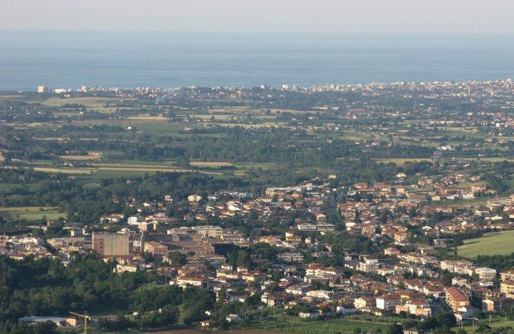 Panorama di Morciano di Romagna fino al mare