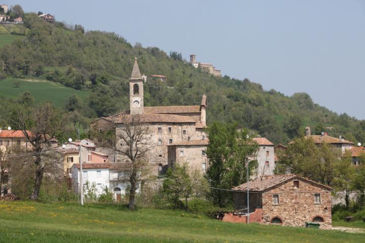 Il campanile della chiesa di Novafeltria