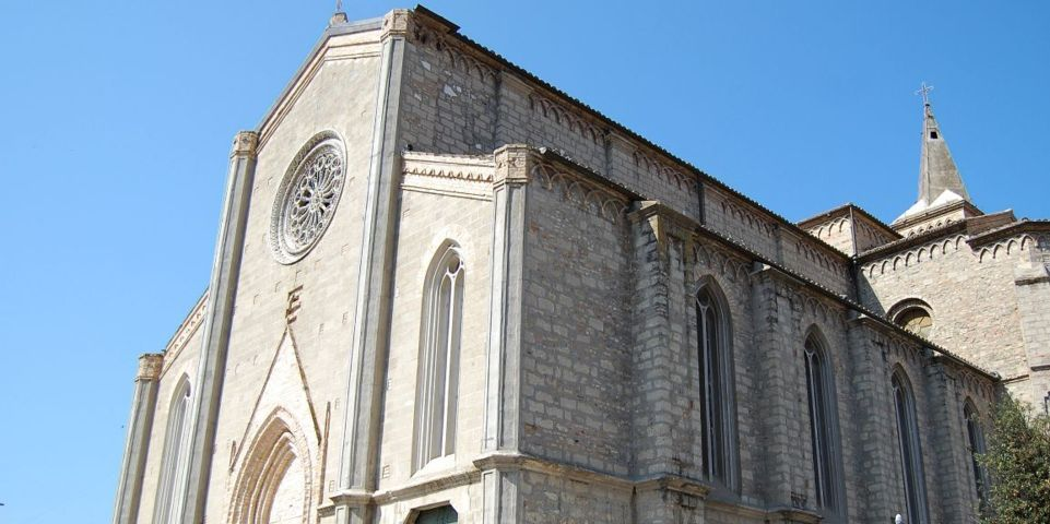 Pedaso e la chiesa in stile Neogotico a tre navate