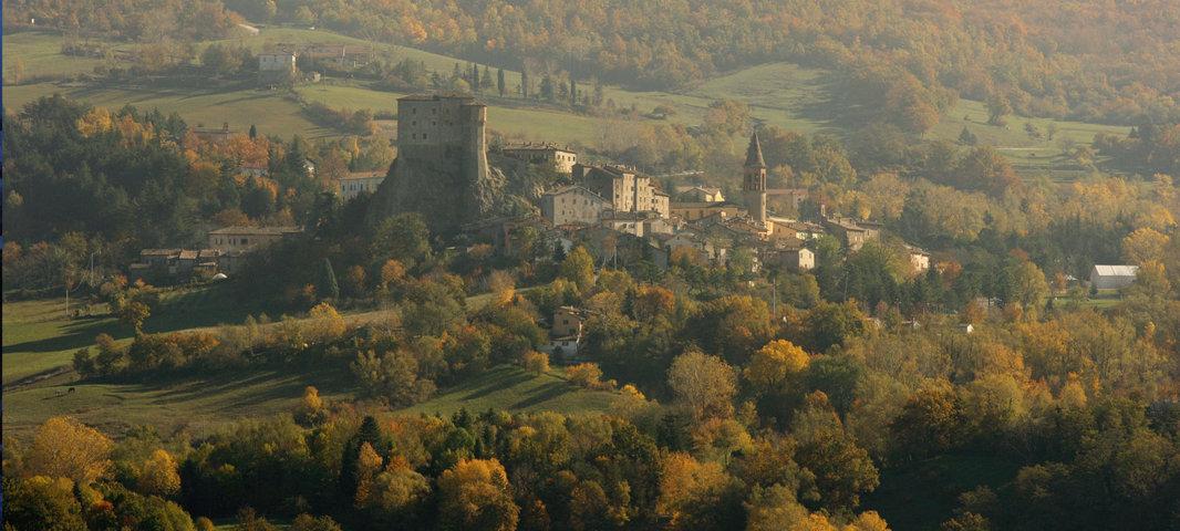 Le colline ed il borgo di Sant'Agata Feltria