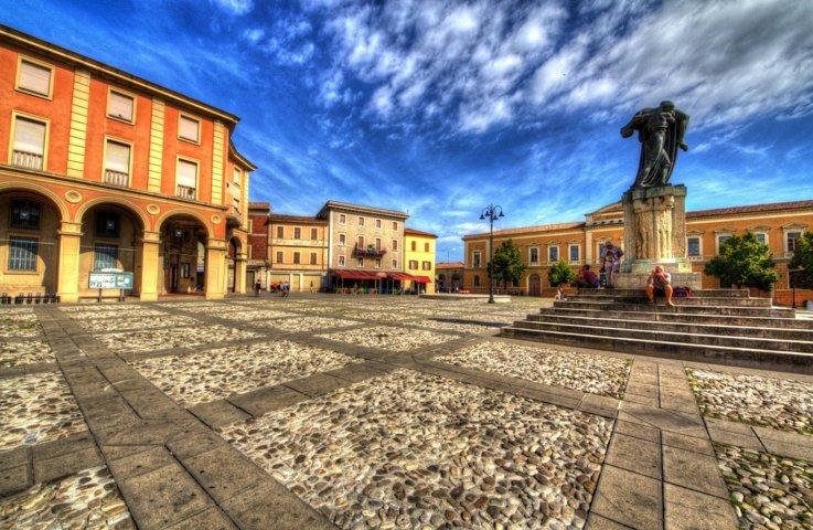 La piazza di Santarcangelo di Romagna