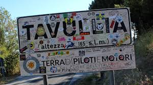 Il cartello stradale di Tavullia