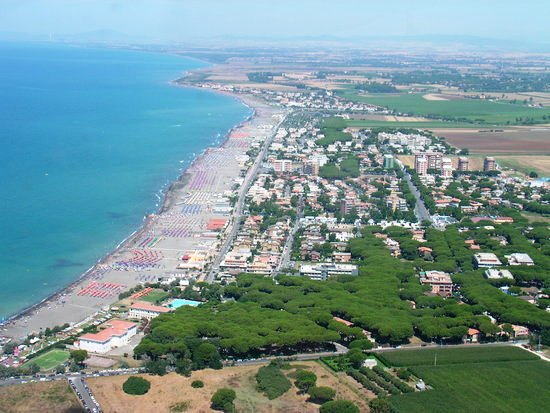 Il panorama con il mare di Montalto di Castro