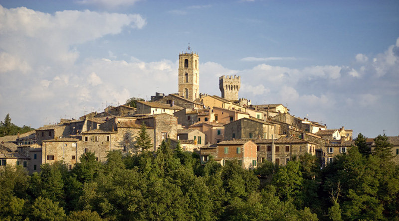 Il panorama del borgo di San Casciano in Val di Pesa
