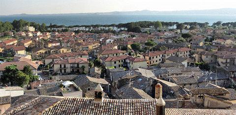 Panorama dei tetti del borgo di Bolsena