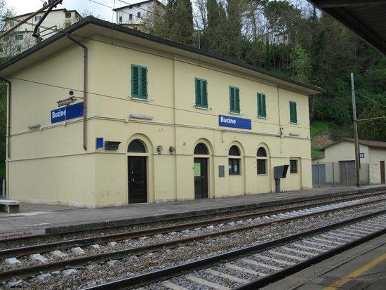 La stazione ferroviaria di Bucine