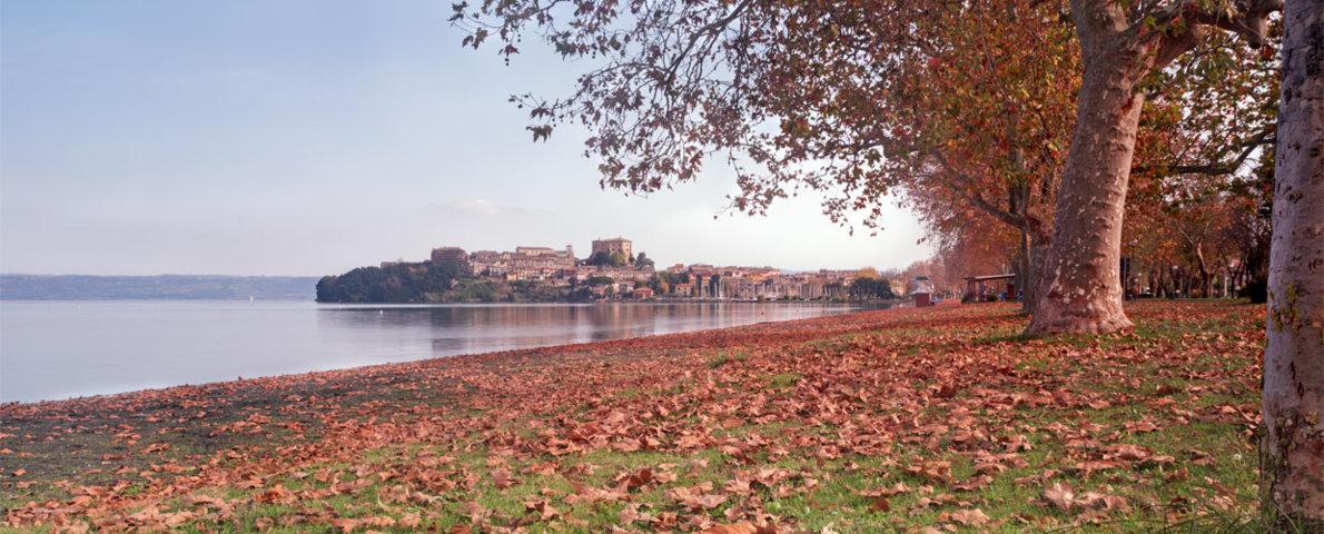 Il panorama in autunno di Capodimonte