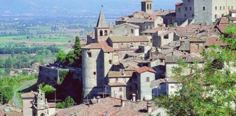 Uno scorcio del borgo antico di Caprese Michelangelo