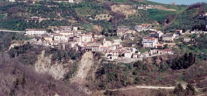 Il panorama del borgo di Carpineto della Nora