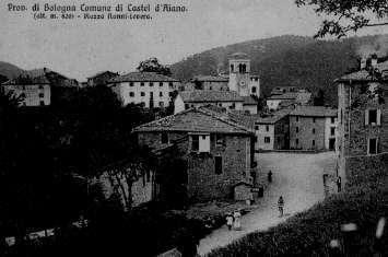 Una foto antica di Castel d'Aiano