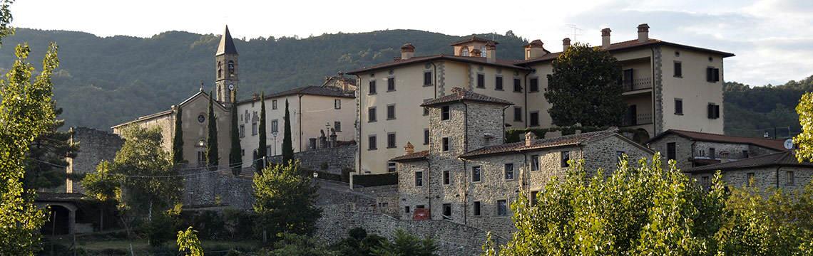 Il panorama del borgo di Castel Focognano