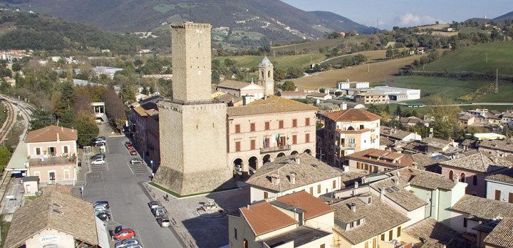 Uno scorcio del borgo di Castelraimondo