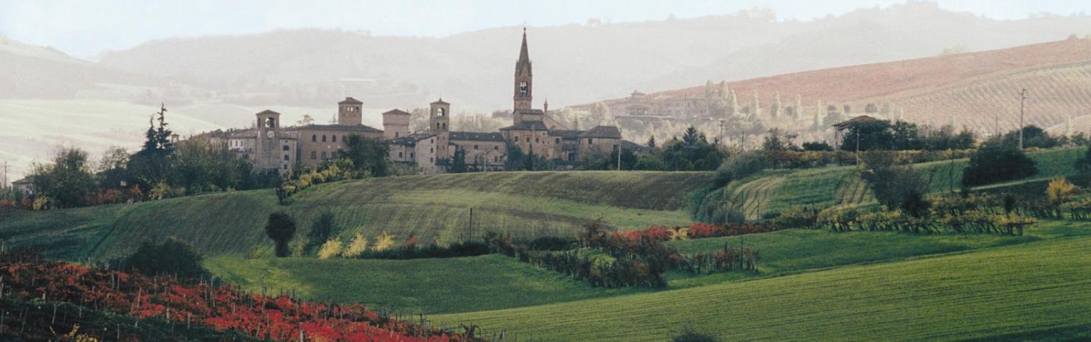 Il panorama del borgo di Castelvetro di Modena