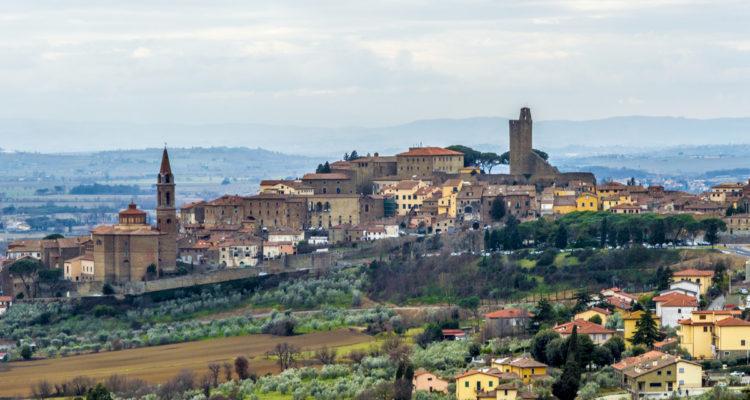 Il panorama del borgo di Castiglion Fiorentino