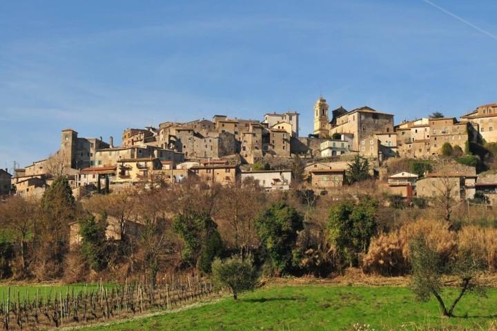 Il panorama della città di Castiglione in Teverina