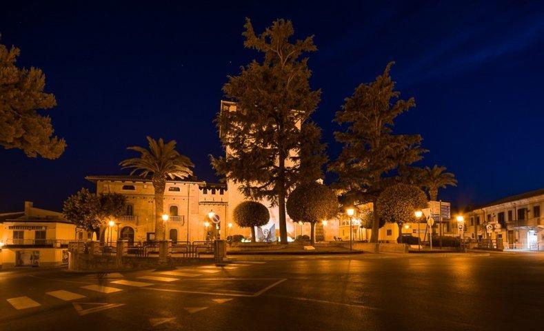Il panorama notturno di Cepagatti
