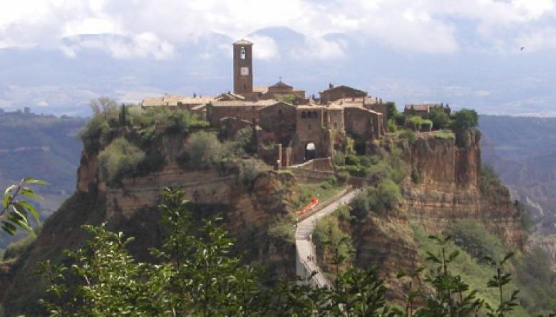 Il panorama del borgo di Corchiano
