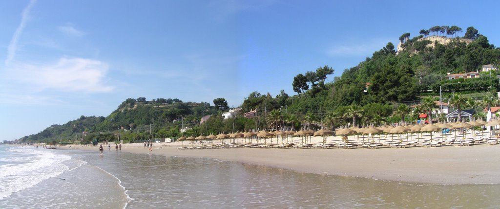 la spiaggia d'estate di Cupra Marittima