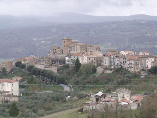 Il panorama del borgo di Fabro