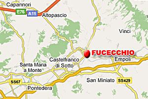 La mappa stradale di Fucecchio