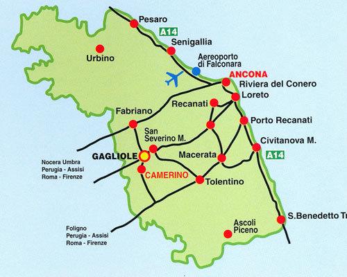 Mappa stradale di Gaglione
