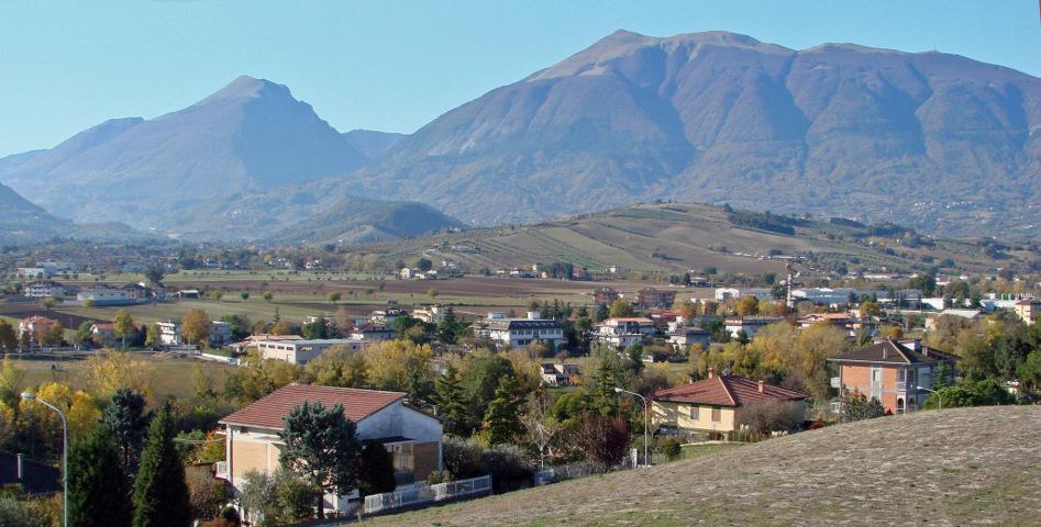 Il panorama del territorio di Maltignano