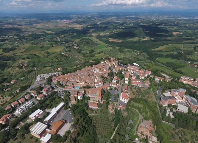 Il panorama del paese di Montaione