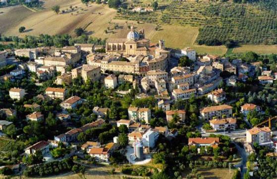 Il panorama di Monte san Vito