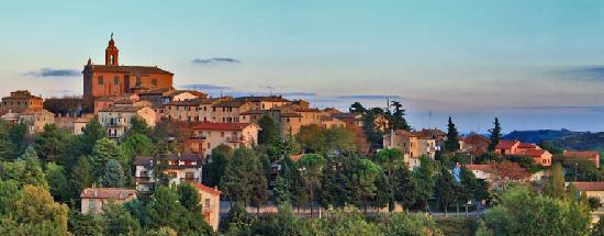 Il panorama della città di Montecarotto