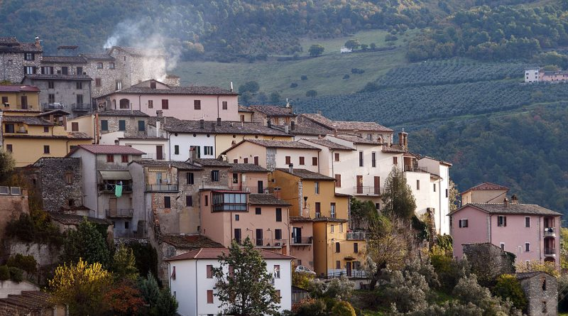 Uno scorcio del borgo di Montefranco