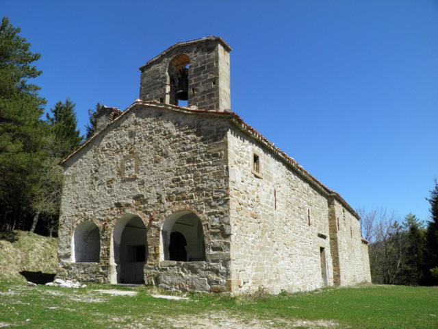 La chiesa di Santa Maria Pantano di Montegallo
