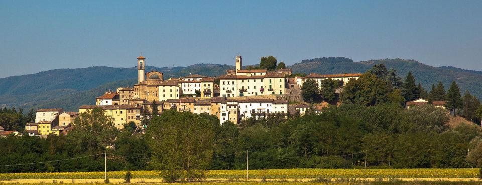 Il panorama del borgo di Monterchi