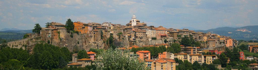 Il panorama del borgo di Orte