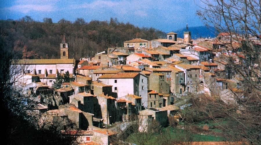 Il panorama del borgo di Piansano