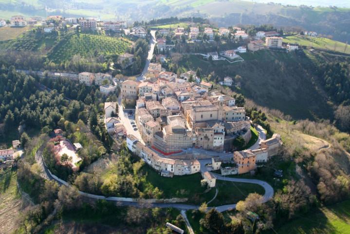 Il panorama di Poggio San Marcello