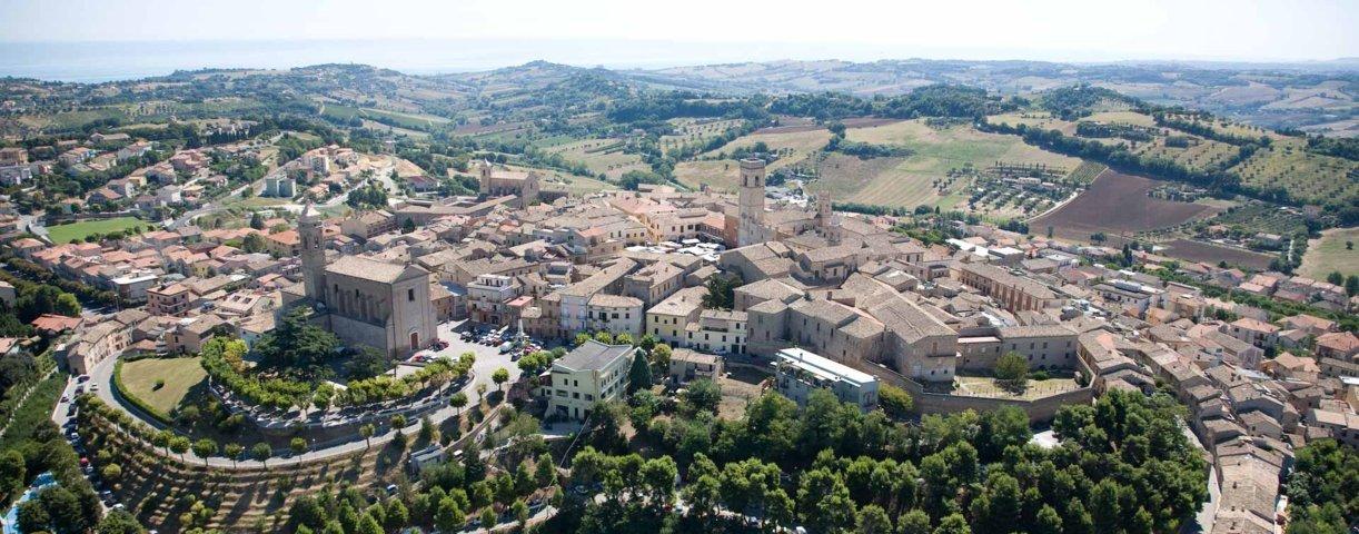 Foto aerea panoramica di Potenza Picena